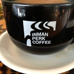 Photo taken at Inman Perk Coffee by Nikhil D. on 3/21/2013