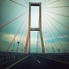 Photo taken at Jembatan Suramadu (Suramadu Bridge) by Meidy L. on 12/8/2012