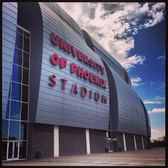 Photo taken at University of Phoenix Stadium by Kevin G. on 7/13/2013