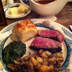 Photo taken at Peter Luger Steak House by Cat on 12/8/2012