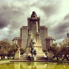 Photo taken at Plaza de España by Caner G. on 4/2/2013
