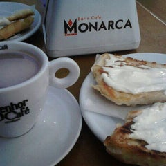 Photo taken at Monarca Bar & Café by Marta J. on 4/25/2013