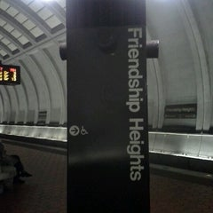 Photo taken at Friendship Heights Metro Station by Mercedes T. on 12/6/2012