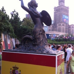Photo taken at The Euro2012 Mermaid of Spain by Jaroslaw M. on 7/1/2012