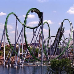 Photo taken at The Incredible Hulk Coaster by Orlando e. on 1/4/2013