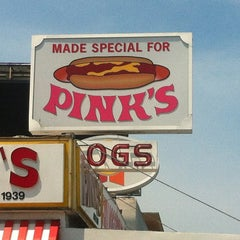 Photo taken at Pink's Hot Dogs by Diamond W. on 7/18/2013