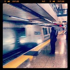 Photo taken at Lake Merritt BART Station by Ryoji K. on 8/29/2013
