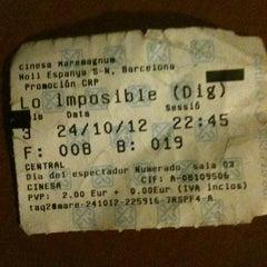 Photo taken at Cinesa Maremagnum by Carol on 10/24/2012