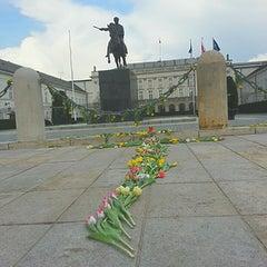 Photo taken at Pomnik Marszałka Piłsudskiego / Piłsudski Monument by Beata Y. on 4/13/2013