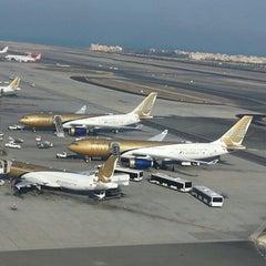 Photo taken at Bahrain International Airport (BAH) | مطار البحرين الدولي by Hussain M. on 12/21/2012