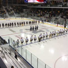 Photo taken at Yost Ice Arena by Jeff K. on 10/10/2012
