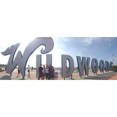 Photo taken at Wildwood Boardwalk by A.J. M. on 8/9/2013
