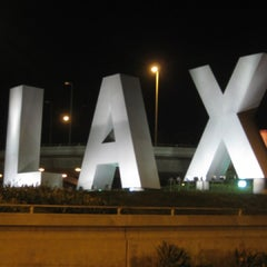 Photo taken at LAX Sign by Juan Carlos E. on 2/13/2013