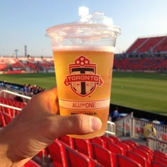 Photo taken at BMO Field by Mathew R. on 8/7/2013