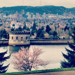 Photo taken at Mt. Tabor Park by Xuan V. on 3/24/2013