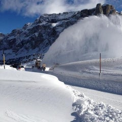Photo taken at Rifugio Passo Sella by Dino R. on 2/4/2013