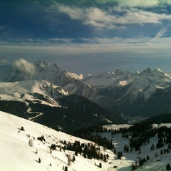 Photo taken at Rifugio Passo Sella by Dino R. on 2/5/2013