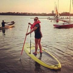 Photo taken at Lake Calhoun by Stephanie P. on 7/20/2013