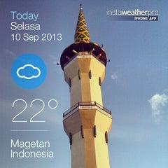 Photo taken at Masjid Agung Baitussalam by reza y. on 9/9/2013
