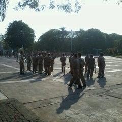 Photo taken at GOR Tridharma by Khakim A. on 11/11/2012