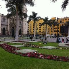 Photo taken at Plaza Mayor de Lima by Eloisa S. on 12/6/2012