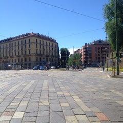 Photo taken at Metro Porta Romana (M3) by Rebecca A. on 5/26/2013