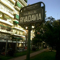 Photo taken at Parque Rivadavia by Ana Paula L. on 11/4/2012