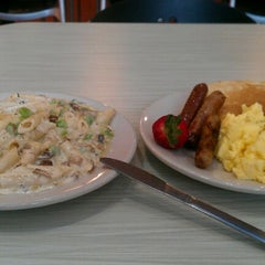 Photo taken at Hill Dining Hall by Tatenda M. on 10/29/2012