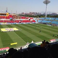 Photo taken at 광양축구전용구장 (Gwangyang Football Stadium) by WS L. on 4/26/2015