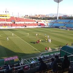 Photo taken at 광양축구전용구장 (Gwangyang Football Stadium) by WS L. on 11/29/2014
