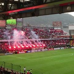Photo taken at Estadio Nemesio Diez by Jimmy T. on 4/28/2013