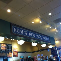 Photo taken at Noah's New York Bagels by Max D. on 1/5/2013