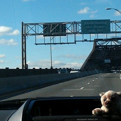 Photo taken at General Pulaski Skyway by Vanessa S. on 11/4/2012