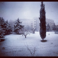 Photo taken at Başkent Üniversitesi by Asena H. on 12/17/2012