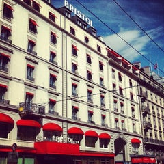 Photo taken at Hotel Bristol Geneva by AlenaZ on 7/28/2012