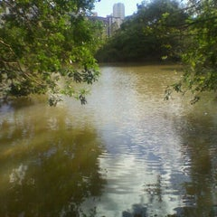 Photo taken at Lago do Parque de Águas Claras by OTAVIO M. on 11/16/2011