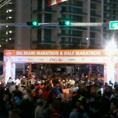 Photo taken at 10th ING Miami Marathon (Full & Half-Marathon) by Sean on 1/29/2012