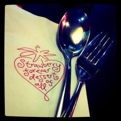 Photo taken at Strawberry Forever Dessert Cafe by Julie K. on 5/13/2011