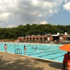 Photo taken at Astoria Park Pool by Brian M. on 8/2/2012