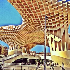 Photo taken at Metropol Parasol by Diego P. on 4/16/2013