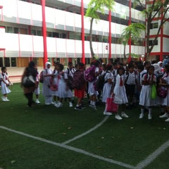 Photo taken at Iskandharu School by Ahmed A. on 2/25/2013