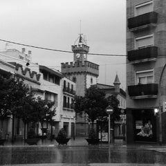 Photo taken at Plaça de la Vila by Luis P. on 10/28/2012