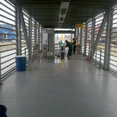 Photo taken at Estación Tomás Valle - Metropolitano by Alessandra K. on 11/7/2012