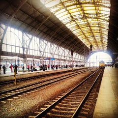 Photo taken at Praha hlavní nádraží | Prague Main Railway Station by Jakub K. on 6/6/2013