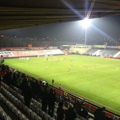 Photo taken at BSFZ Arena - Südstadt Stadion - Trenkwalder Arena by Kathrin H. on 11/25/2012