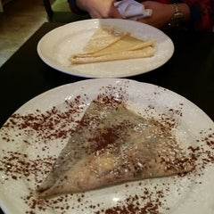Photo taken at Trixi's Crepe & Coffeehaus by Angela C. on 1/19/2015