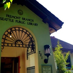 Photo taken at Seattle Public Library - Fremont Branch by Tangmo S. on 5/9/2013