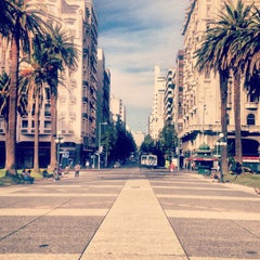 Photo taken at Plaza Independencia by Bruno C. on 3/24/2013