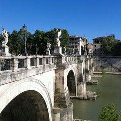 Photo taken at Ponte Sant'Angelo by Natalia I. on 5/13/2013