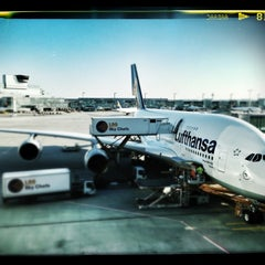 Photo taken at Lufthansa Flight LH 720 by Stephan B. on 3/2/2013